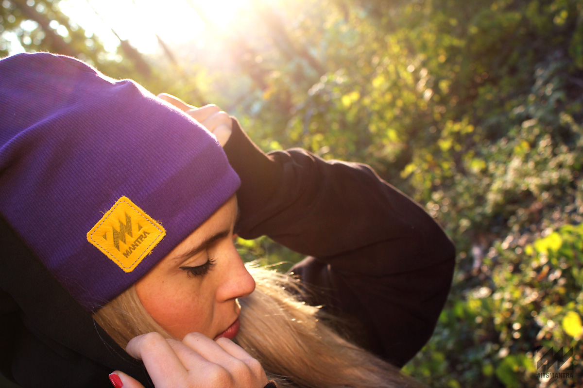 MANTRA Ribbed Beanie - Purple