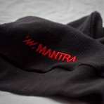 MANTRA Ribbed Beanie Black detail