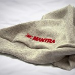 MANTRA Ribbed Beanie Ivory detail