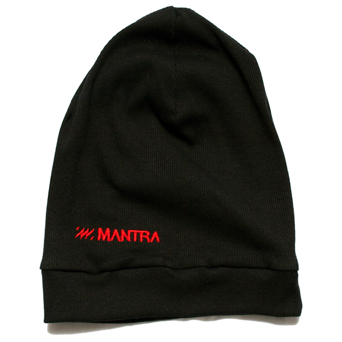 MANTRA Ribbed Beanie | Black