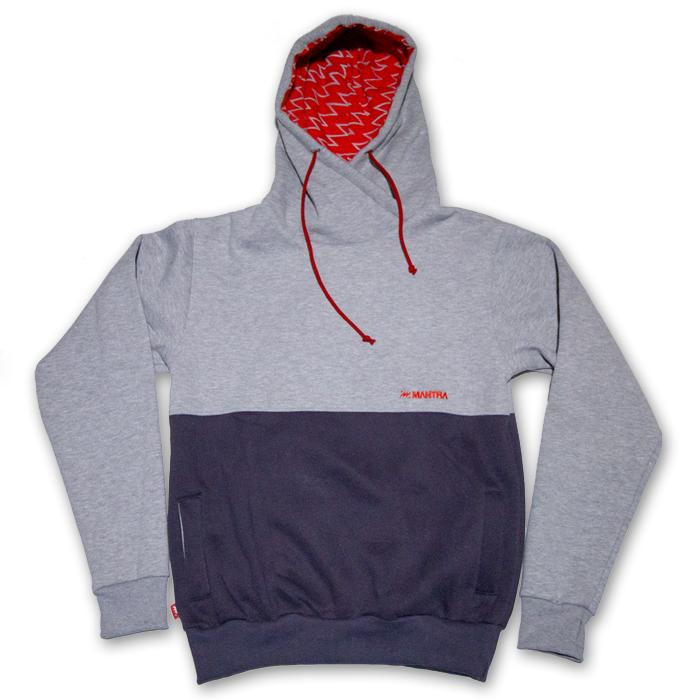 MANTRA Split Hoodie | Gray