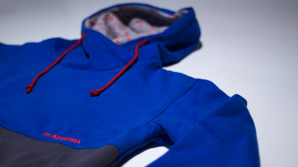 MANTRA Split Blue Hoodie